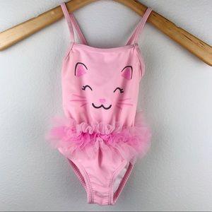 Healthtex Pink Cat One Piece Bathing Suit Tutu 18m